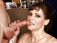 Alexandra Silk Like Passnger's Cum Release On Her Face