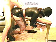 Ring Gagged Slave Slut Tied On A Bench Throated And Drilled Hard