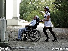 Extreme Medicine.  Horny Nurse Seduces Patsiant In A Wheelchair