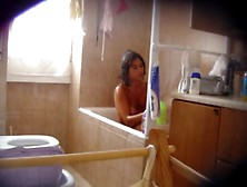 Hidden Cam Catches Every Second Of Hot Babe Under The Shower