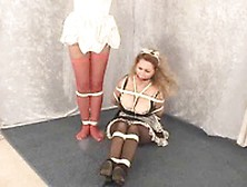 2 Sexy And Busty Maids Autumn And Sirena Gets Kidnapped And Tied