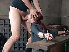 Skillful Redhead Opens Her Mouth For A Master's Erected Dong