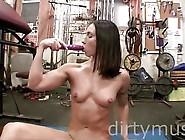 Wenona - Dirtymuscle - Gym Dildo Play