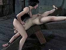 Moans As Juliette March Gets Drilled Using Toy Roughly In Bdsm