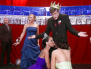 Prom King Fucks Two Sexy Brunettes In A Hot Threesome