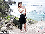 Demi Lopez In Demi Pees And Sucks Your Cock On The Beach - Atkgi
