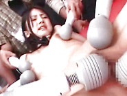 Hot Japanese Gang Bang Sex With Huge Dildos