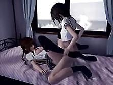 Colegiala Nos Deslumbra En Un Show De Sexo Animado Japonés 3D