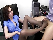 Grey Pantyhose Foot Job 1
