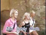Julie De Brava With Nikki Sun And Sandy Orgy
