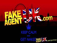 Fakeagentuk Casting Couch Sees Spanish Chick Deep Throated And C