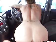 Driving Instructor Dildo Fucks Her Student