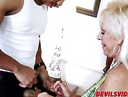 Old Blonde Mandy Mcgraw Fucked By A Big Black Guy In Her Master