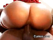 Bouncing Huge Monster Black Ass Riding