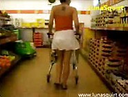 Girl Squirts At Supermarket