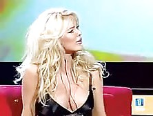 Victoria Silvstedt's Boobs On Spanish Tv