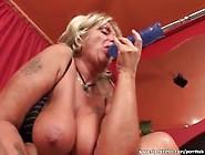 Dirty Blonde Sucks Cock And Fucks A Machine