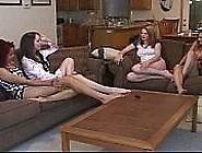 4 Cute Amateur Teen Lesbians Having Fun