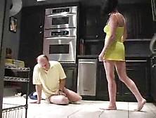 She Kicks And Slaps His Balls Repeatedly