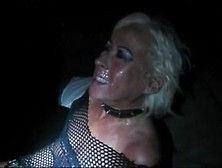Blonde Mature Slut Is Used As A Cumdumpster And Pissed On At A S