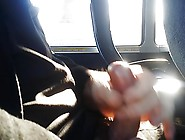 Jerking Off On The Bus.  Cum Shot.