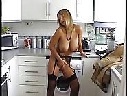 Mature,  Blonde Woman Looks Amazing In Black,  Erotic Lingerie,  Wh