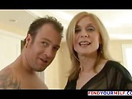 Older Blonde Woman Fucking Young Stud