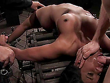 Juicy Ebony Babe Kapri Gets Her Mouth Staffed With A Cock