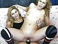 Hot Blonde Twins Strap On Fuck On Webcam