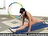 Flexible Girl Doing Nude Gymnastics