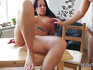 Step-Son Caught Not Mother Naked In Kitchen And Seduce Fuck