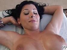 Big Tits Brunette Goddess Gives An Unforgettable Oil Massage