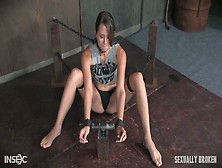 Chained Bitch Zoey Laine Is Fucked In Her Throat In The Dark Tor