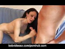 Gaelia Milf Brunette Discovers The Double Blowjob And Dp