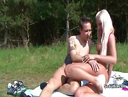 German Teen Caught Outdoor And Fucked By Older Men On Beach