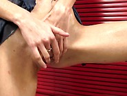 Nice Pee Fetish Female Massages Her Clitoris