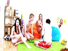 Teen Swingers Sharing With Their Partners.