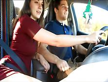 Naughty Gf Sucks Boyfriends Cock While He Drives A Car