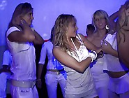 Swinging Group Sex At White Party Club