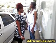 Slutty African Girls Shower Together And Finger Their Pussies Vi