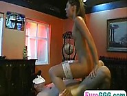 Studs Wait For Their Turn To Jizz A Hot Brunette Prosti