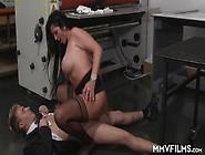 Horny Big Titted Brunette German Milf Vivian Skylight Getting Dr