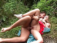 Shaved Kristy Gets Fucked In The Woods