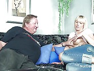 Fat Stepdad Caught His Step Daughter And Fuck Her Pussy