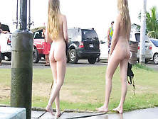 Nude Public Shower And Spread