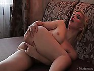 Naughty Blonde Babe With Hairy Pussy Is Getting Spanked And Mast