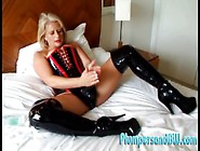 Kinky Milf In Latex Corset Fucking A Strapon