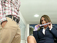 Curvy And Sexy Office Lady Angelina Enjoys Some Huge Dick