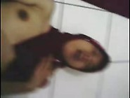 Indonesian- Cewek Jilbab Striptease 2