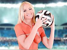 Kiara Lord Body Paint Soccer Uniform Is Sexy